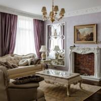гостиная в классическом стиле фото 16