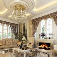 гостиная в классическом стиле фото 17