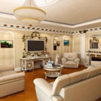 гостиная в классическом стиле фото 20