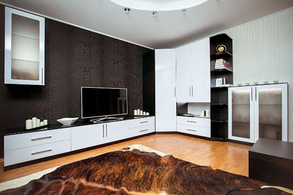 Интерьер гостиной в стиле модерн фото