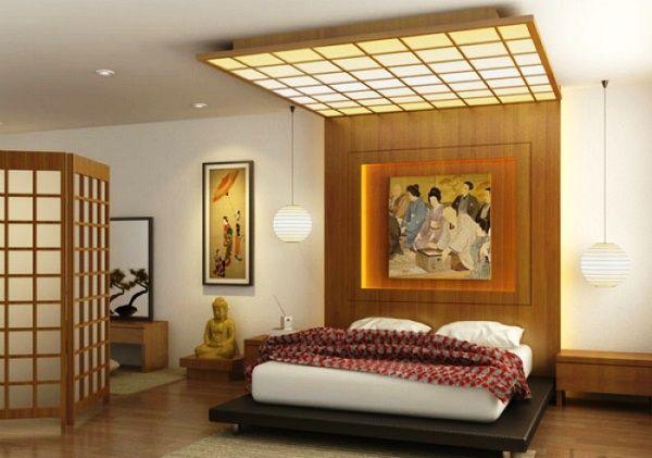 интерьер спальни в японском стиле фото