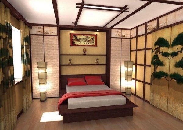потолок в японском стиле фото