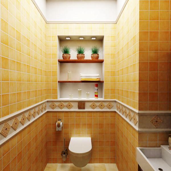 ремонт туалета кафельной плиткой фото