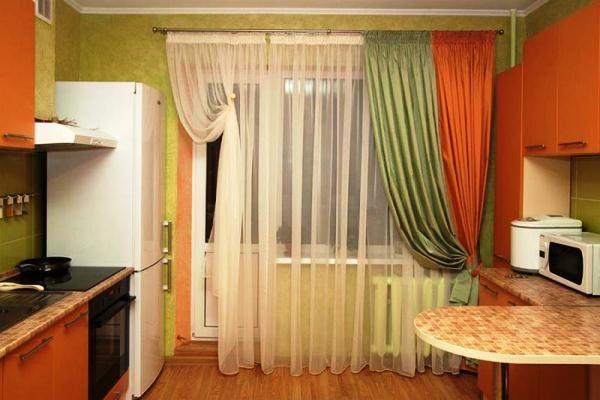 красивые шторы для кухни фото новинки
