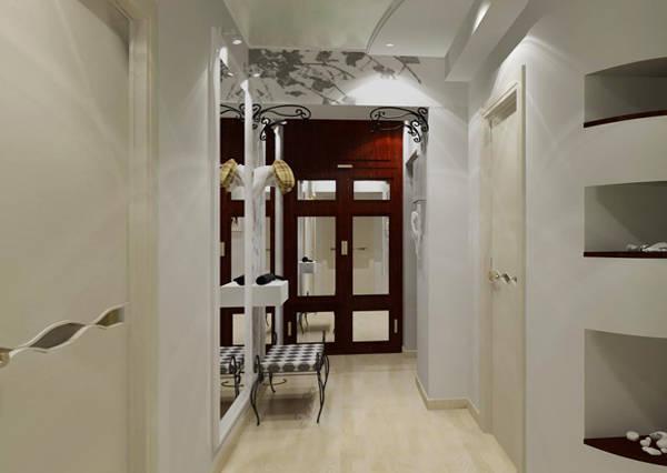 прихожая в современном стиле в узкий коридор фото