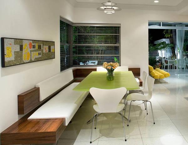фото кухонных уголков со столом