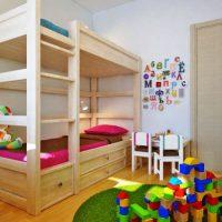 детская спальня для двоих детей фото 15