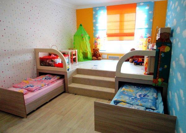 детская комната для 2 детей фото