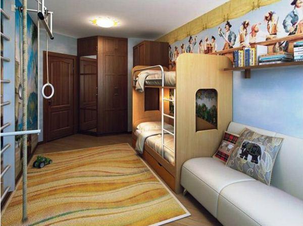 дизайн детской комнаты для двоих детей фото
