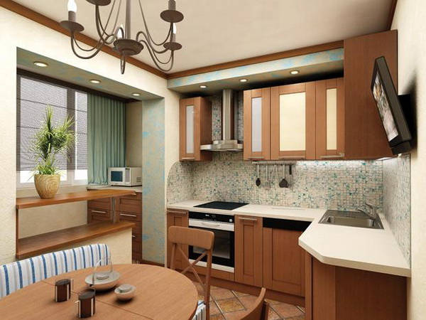 дизайн кухни в 9 кв м фото
