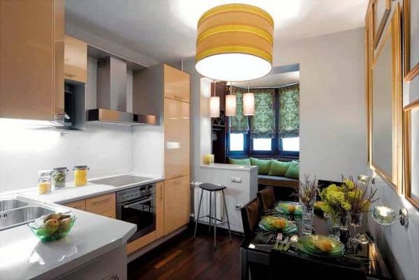 дизайн интерьера кухни 9 кв метров фото 3