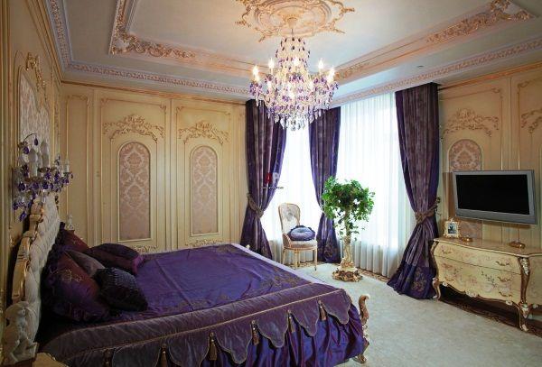 дизайн штор в спальне фото