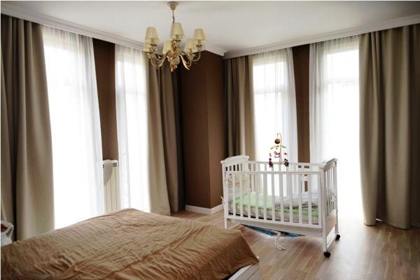 Красивые шторы в спальню фото