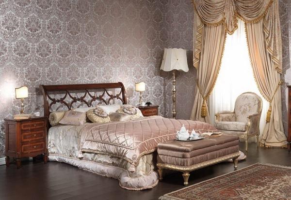 шикарные спальни в классическом стиле фото