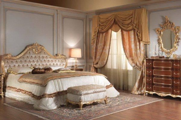 классический дизайн спальни фото