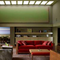 диван в интерьере гостиной фото 36