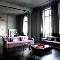 диван в интерьере гостиной фото 37