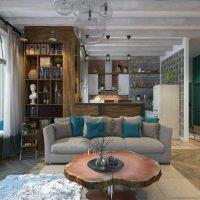 диван в интерьере гостиной фото 40