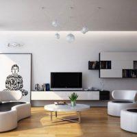 диван в интерьере гостиной фото 43