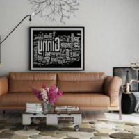 диван в интерьере гостиной фото 12