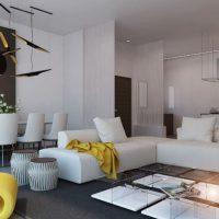 диван в интерьере гостиной фото 13