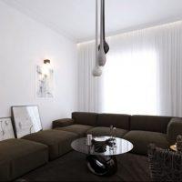диван в интерьере гостиной фото 15