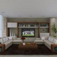 диван в интерьере гостиной фото 17