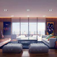 диван в интерьере гостиной фото 28