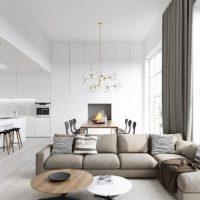 диван в интерьере гостиной фото 4