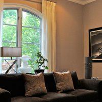 диван в интерьере гостиной фото 55