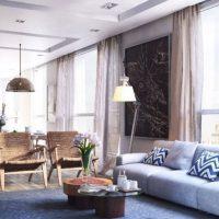 диван в интерьере гостиной фото 6