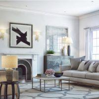 диван в интерьере гостиной фото 7