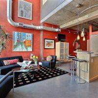 дизайн гостиной в стиле лофт фото 23