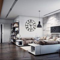 дизайн гостиной в стиле лофт фото 34