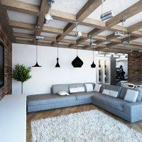 дизайн гостиной в стиле лофт фото 35