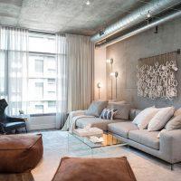 дизайн гостиной в стиле лофт фото 39