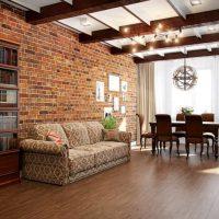 дизайн гостиной в стиле лофт фото 43