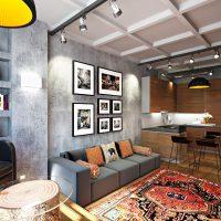 дизайн гостиной в стиле лофт фото 47