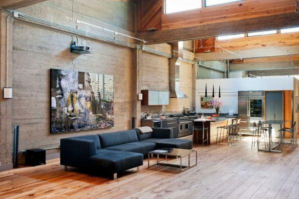 гостиная в стиле лофт фото 12