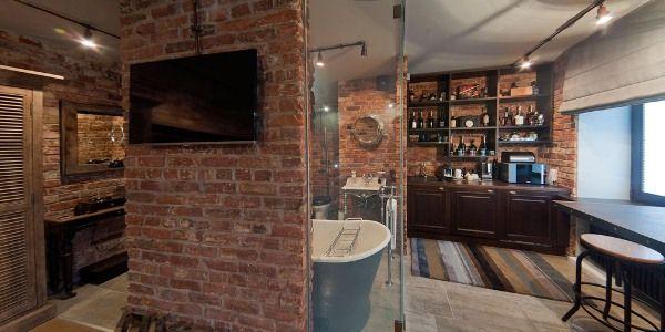 гостиная в стиле лофт фото 7
