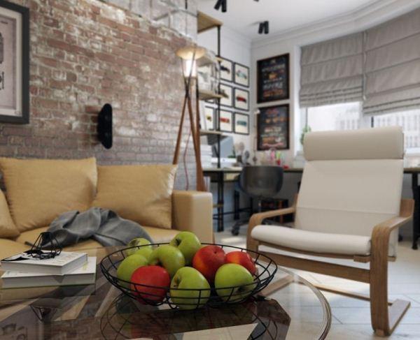 гостиная в стиле лофт фото