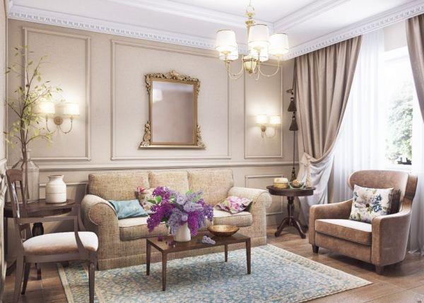 гостиная в стиле прованс фото 8