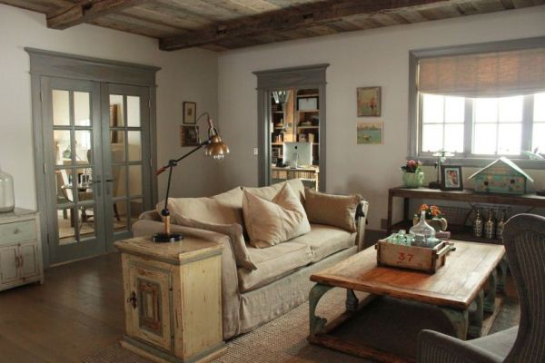 гостиная в стиле прованс фото 9