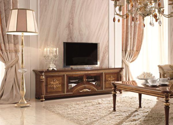 Тумба под телевизор в классическом стиле фото 13