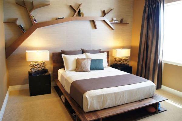 спальня в экостиле фото