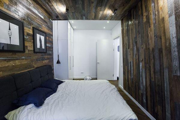 интерьер спальни в эко стиле фото
