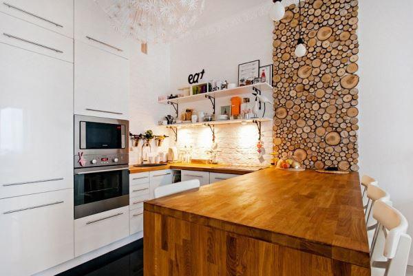 дизайн кухни в эко стиле фото