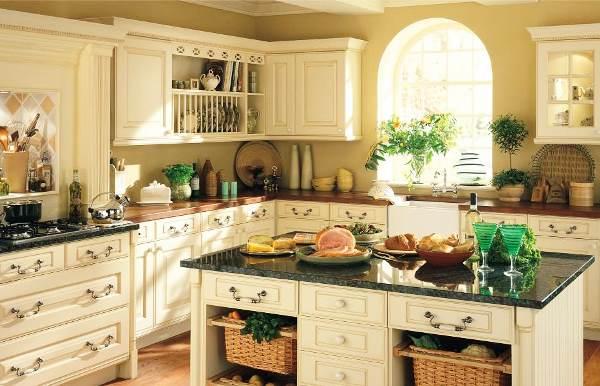 кухня в стиле винтаж фото