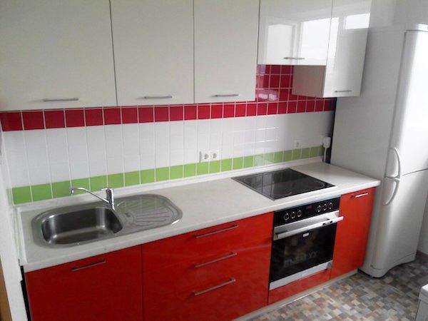 Линейная кухня 3 метра фото