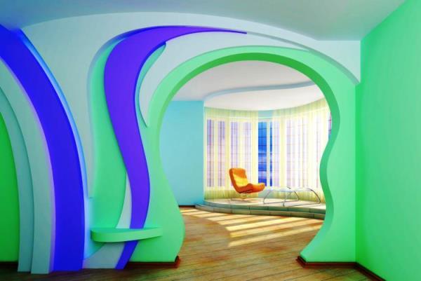 Межкомнатные арки из гипсокартона в квартире фото